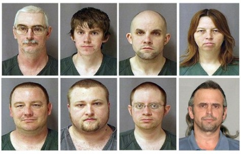 Image: David Brian Stone Sr., David Brian Stone Jr., Jacob Ward, Tina Mae Stone, Michael David Meeks, Kristopher T. Sickles, Joshua John Clough, Thomas William Piatek