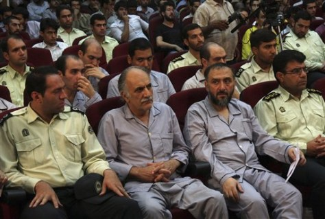 Image: Political activisits on trial in Iran