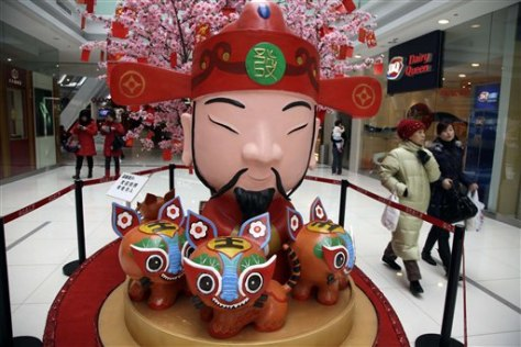 Image: God of Prosperity decoration