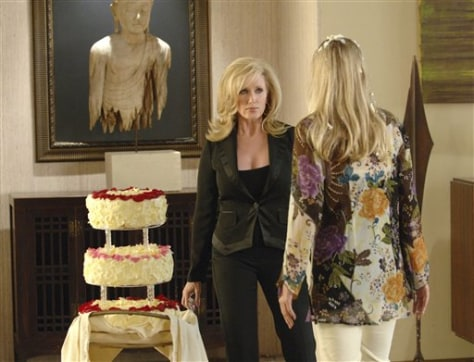 MORGAN FAIRCHILD BO DEREK AND ONE TOWERING WEDDING CAKE