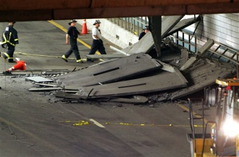 Image: Boston tunnel collapse