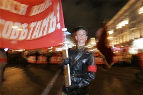 IMAGE: YOUNG COMMUNIST AT RALLY
