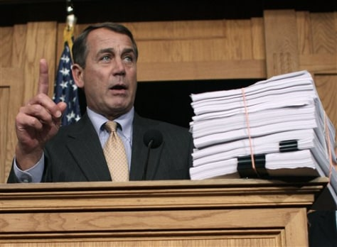Image: House Minority Leader John Boehner of Ohio