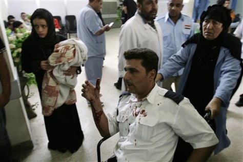 Image: Wounded policeman