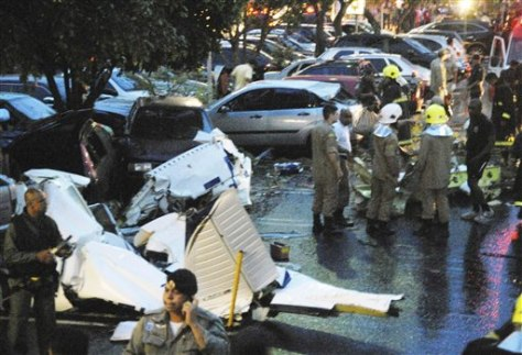 Image: Plane crash scene