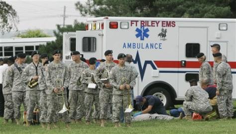 Image: Medics respond after parachute mishap