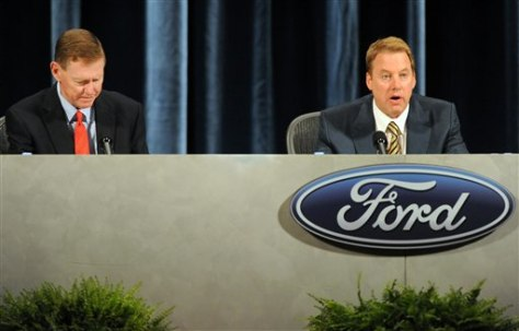 Image: Bill Ford, Alan Mulally