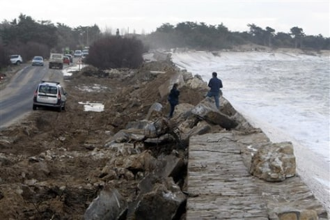 Image: Damaged sea wall