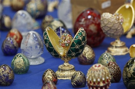 Image: Fake Faberge eggs