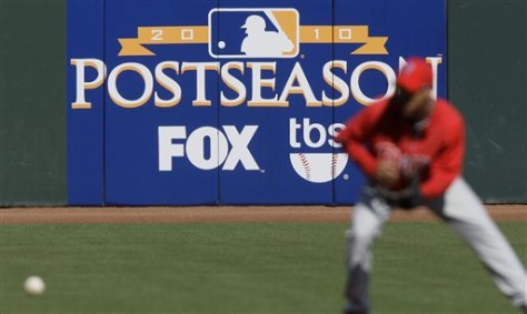 Image: Fox 'Postseason' baseball sign at ballpark