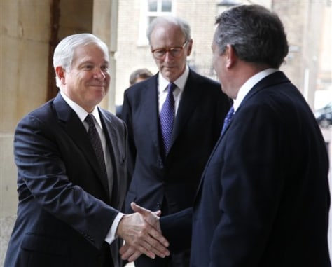 Imae: Robert Gates, Liam Fox, Mark Corbet Burcher