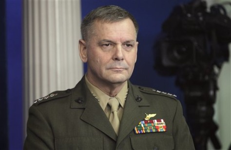 Image: Vice Chairman of the Joint Chiefs of Staff Marine Gen. James Cartwright