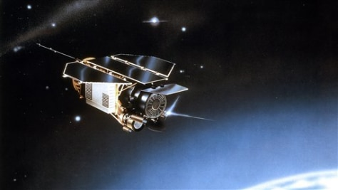 Image: Undated artist rendering provided by EADS Astrium shows the scientific satellite ROSAT