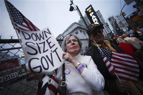 Image: Tax Day protesters