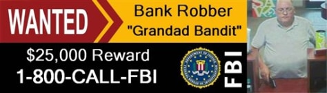 "Image: Billboard to be used in campaign to catch the ""Granddad Bandit"""