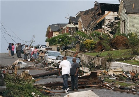 Image: Pratt City, Ala., tornado damage