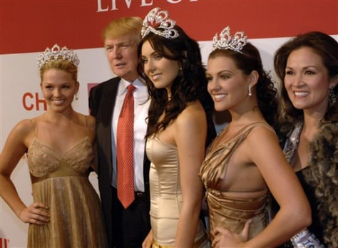 DONALD TRUMP AND MISS UNIVERSE
