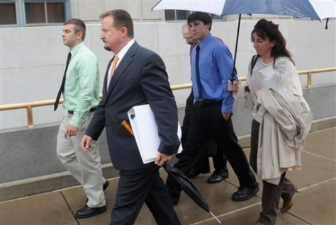 Image: Brandon J. Piekarsky, 18, of Shenandoah Heights, left, and Derrick M. Donchak, 20, of Shenandoah, second from right