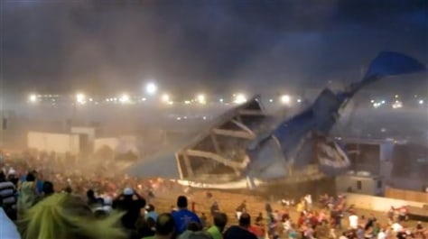Image: Indiana stage collapse
