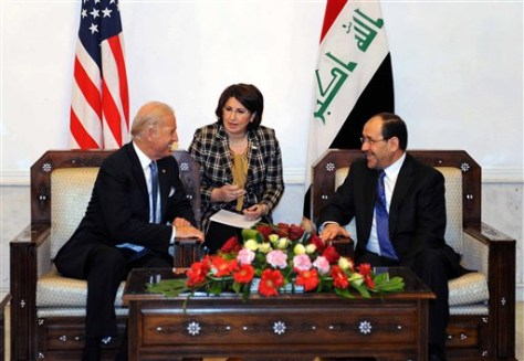 Image: Nouri Maliki, Joe Biden in January meeting