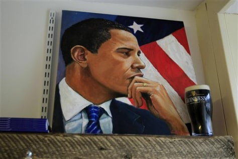 Image: A painting of U.S. President Barack Obama