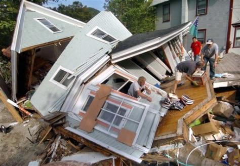 Image: A destroyed house in Rochester, Vt.