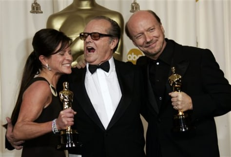 Paul Haggis, Jack Nicholson and Cathy Schulman