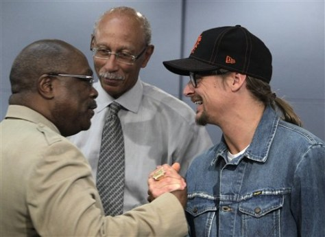 IMage: Dave Bing, Kid Rock, Robert Ritchie, Wendell Anthony