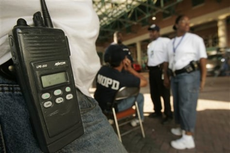 New Orleans police officer carries two-way radio
