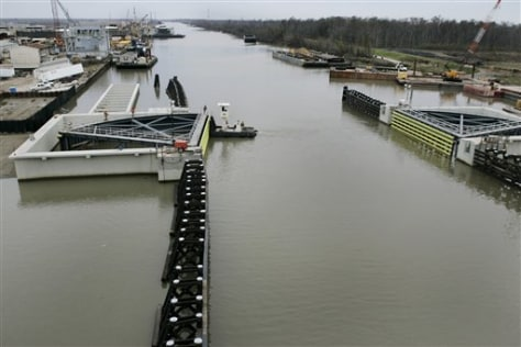 IMAGE: Flood gates on Harvey Canal