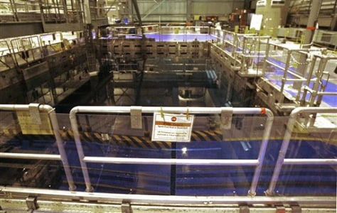 Image: Spent fuel pool at Vermont Yankee nuclear plant