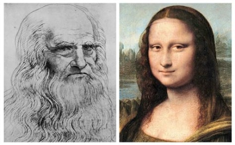 Image: Leonardo and Mona Lisa