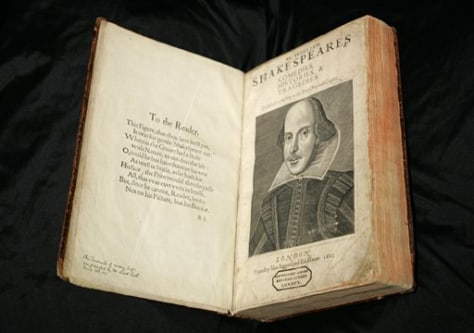 Image: Shakespeare First Folio