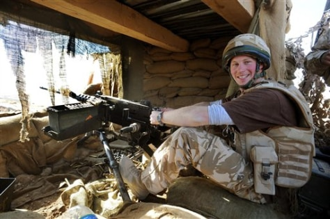 IMAGE: PRINCE HARRY WITH MACHINE GUN