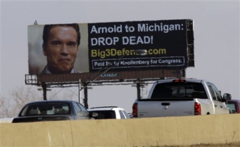 IMAGE: BILLBOARD AGAINST SCHWARZENEGGER