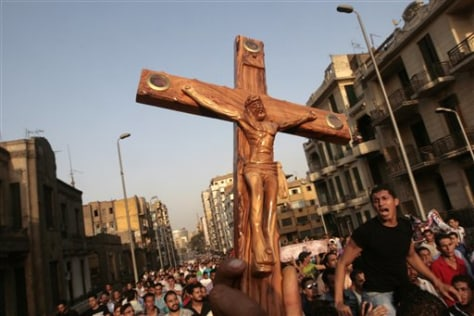 Image: Angry Egyptian Christians
