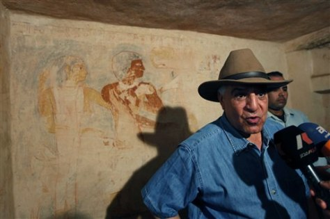 Image: Egyptian antiquities chief Zahi Hawass