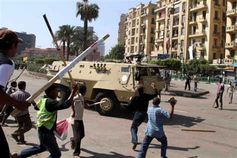 Image: Protesters in Tahrir Square in Cairo