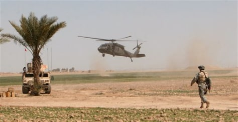 Image: U.S. helicopter in Iraq