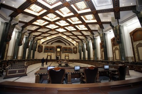Image: The conference palace dedicated to the coming Arab League summit