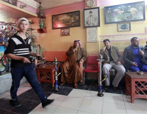 Image: A coffee shop in Fallujah, Iraq