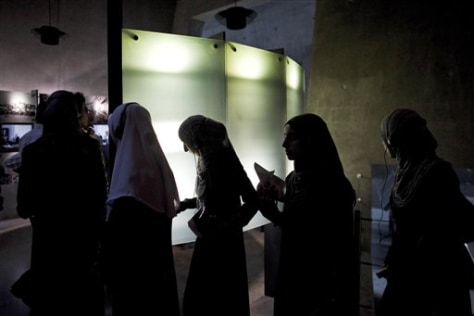 Image: Palestinian students visit the Yad Vashem Holocaust memorial