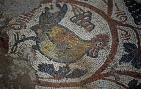 Image: Mosaic floor of ancient church