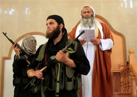 Image: Members of a militant Islamic group Jund Ansar Allah