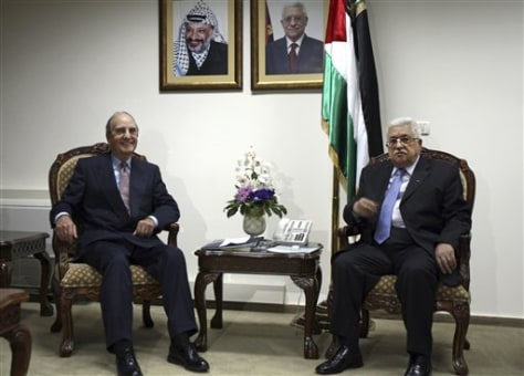 Image: George Mitchell, Mahmoud Abbas