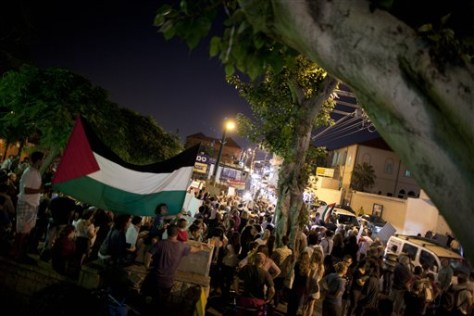 Image: Israelis and Palestinians protest