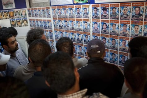 Pictures of people who disappeared in Misrata