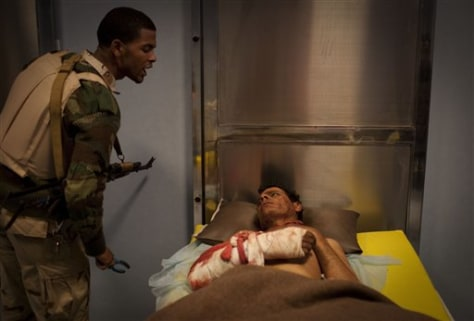 Image: An injured, captured soldier