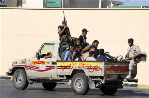 Image: Misrata fighters in Tripoli