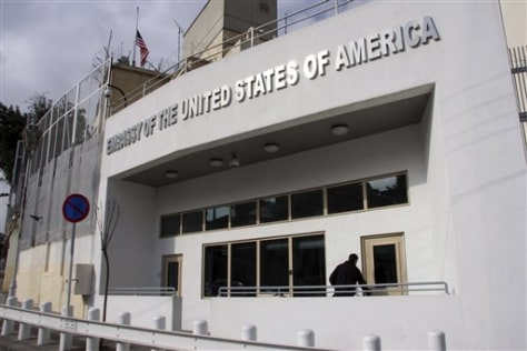 Image: The U.S. embassy building in Syria